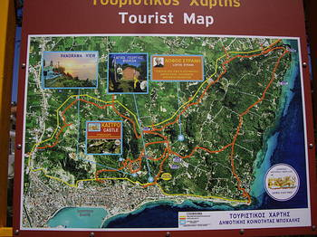 Zante Tourist Map